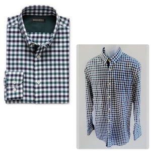 Tailored Slim-Fit Non-Iron Bold Gingham Shirt  XL